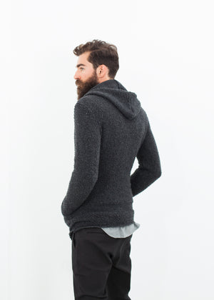 Pill Zip Sweater in Anthracite