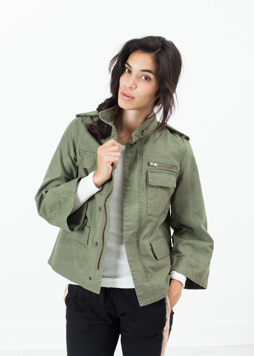 Big Army Jacket in Olive