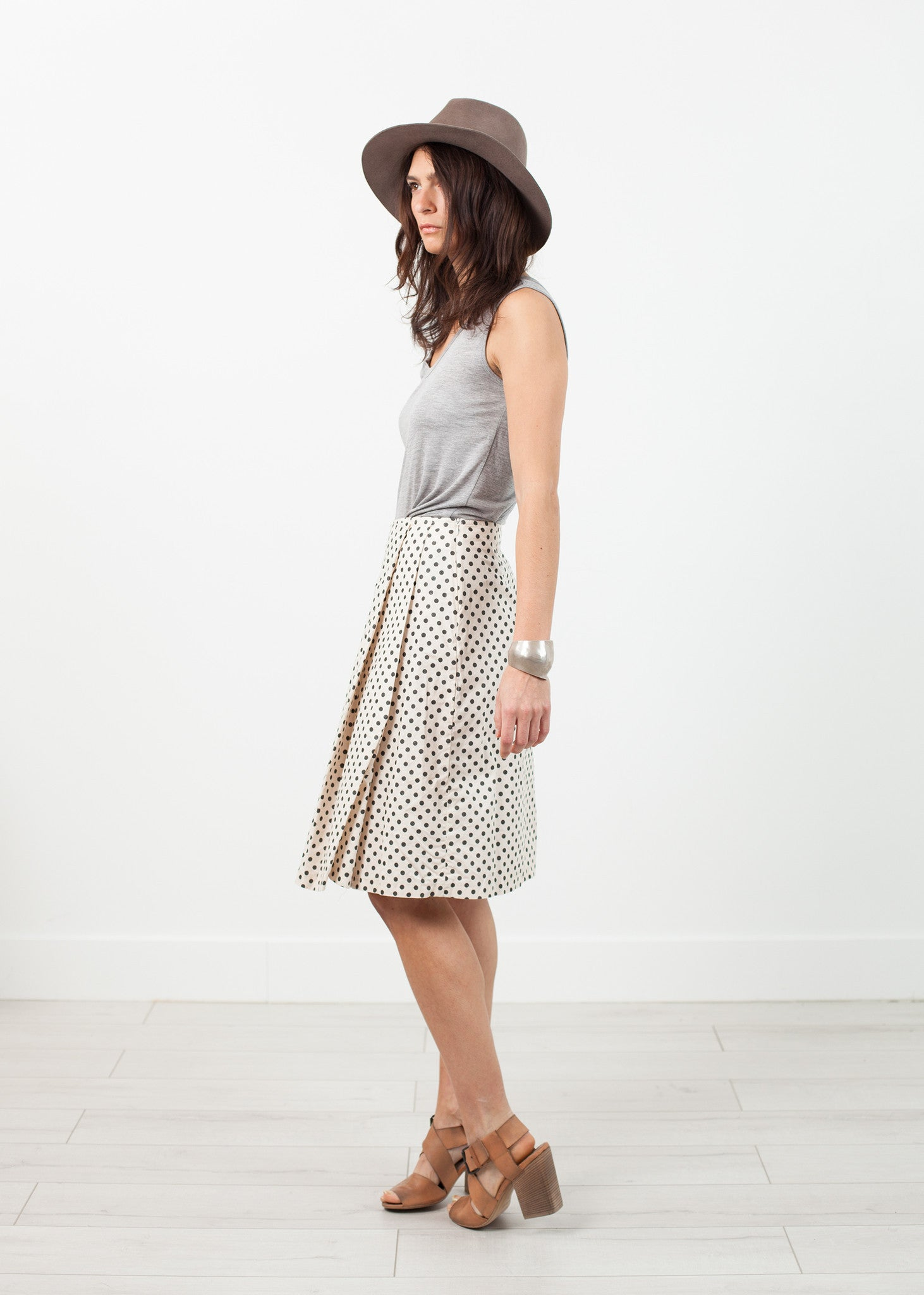 Pleated Skirt in Glitter Dots