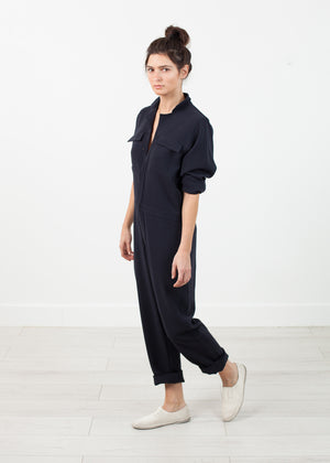 Worker Jumpsuit in Navy