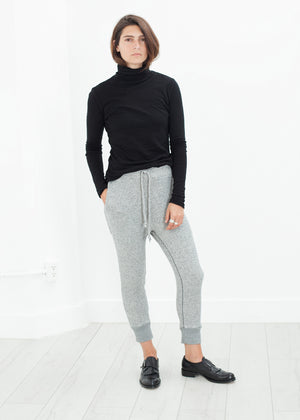 Highsoft Cropped Sweat in Heather Grey