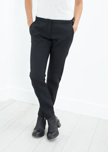 Side Zip Slim Pant in Black