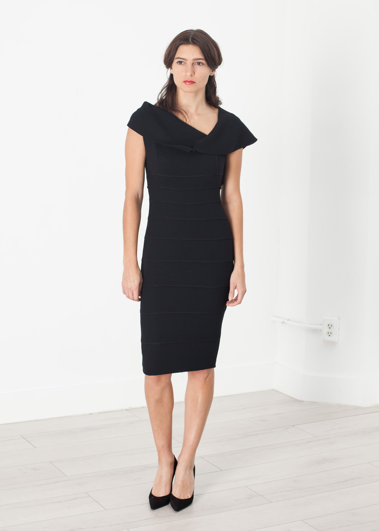 Asymmetric Dress in Black