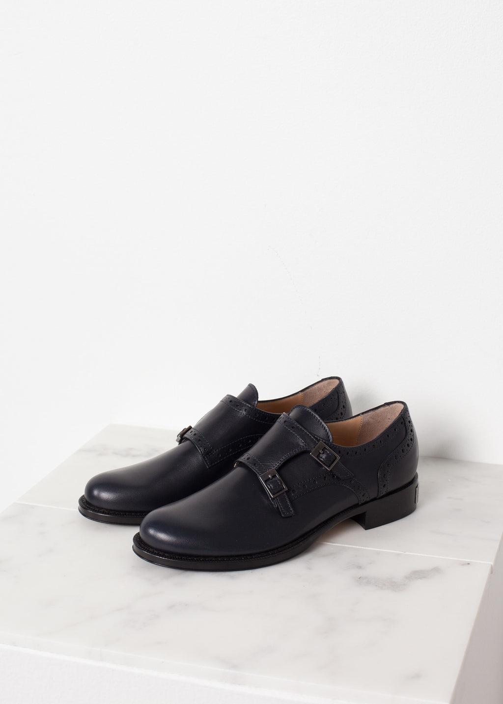 Buckle Shoe in Navy