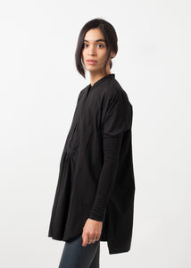Oversized Bibbed Blouse