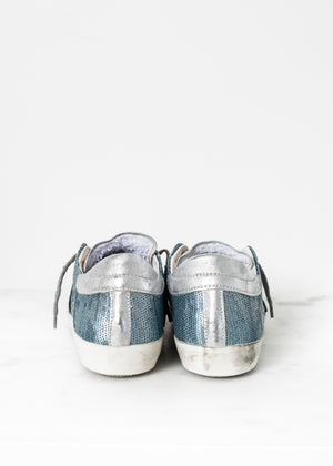 Metallic Sequin Low Top Sneaker