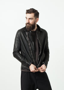 Distressed Motorcycle Jacket
