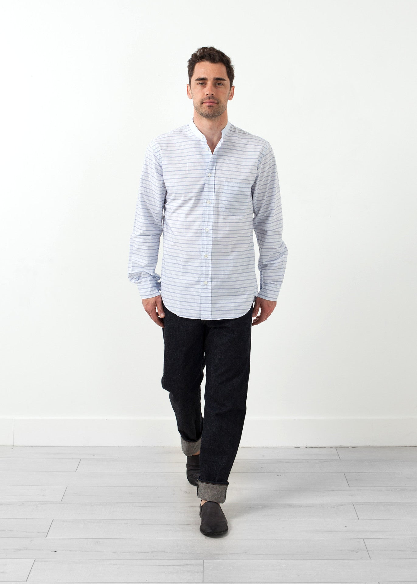 Mandarin Collar Formal Shirt
