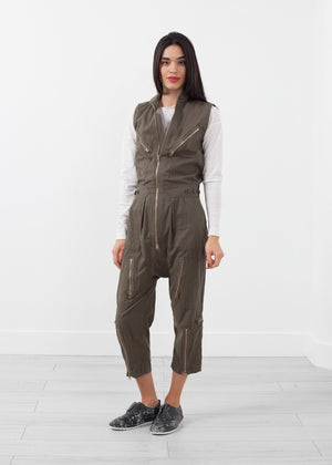 Sleeveless Harem Flightsuit