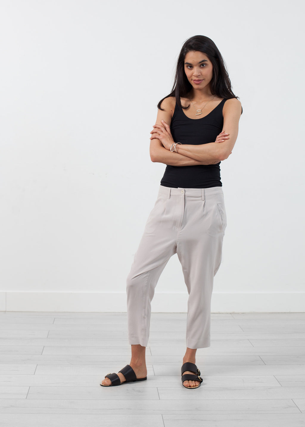 Silk Drop Crotch Pant