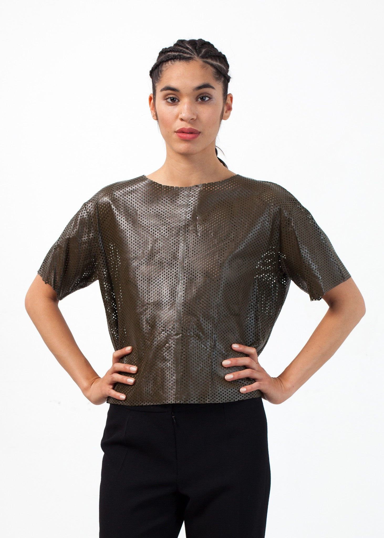 Auralias Leather Top