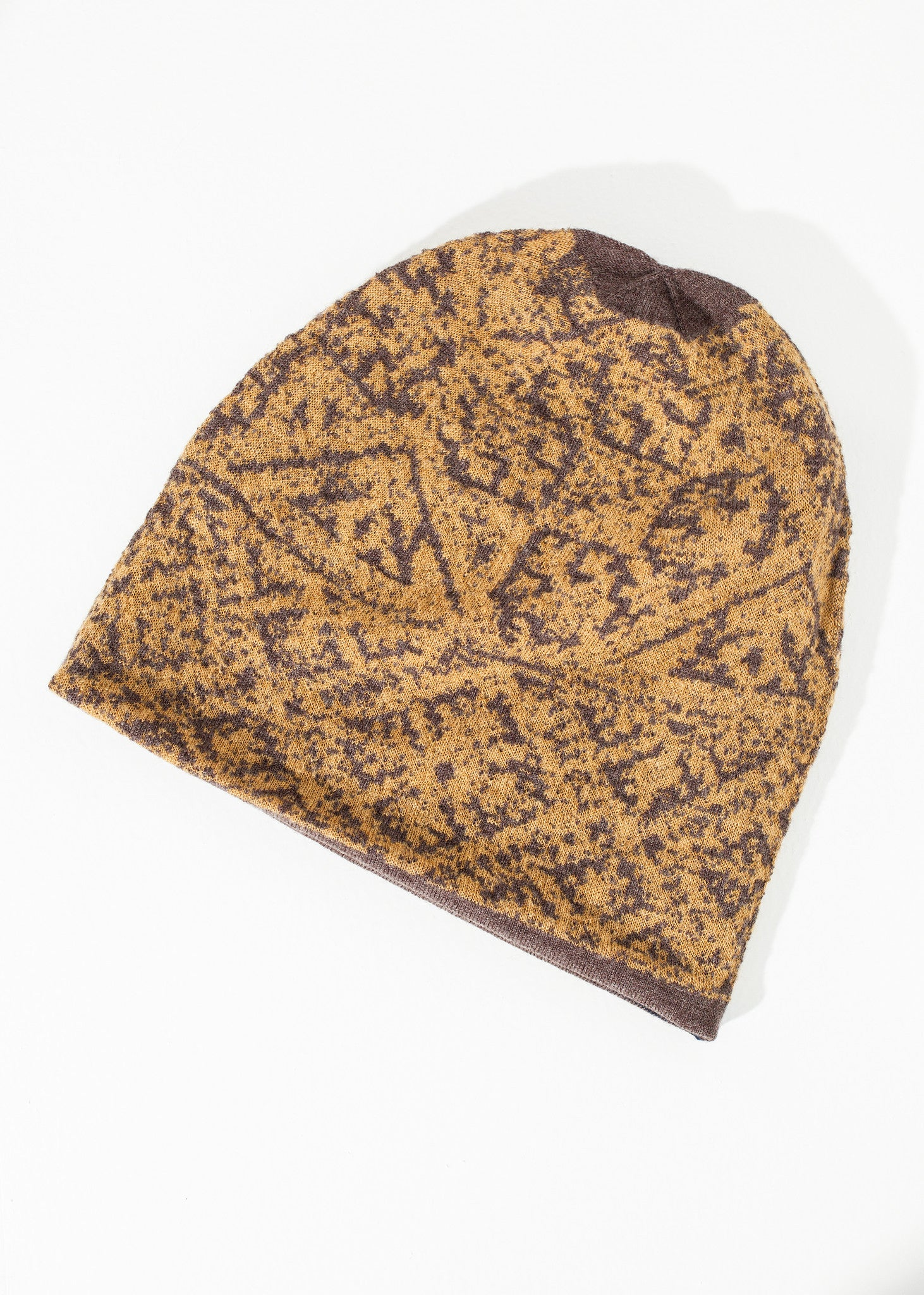 Reversible Beanie in Amber