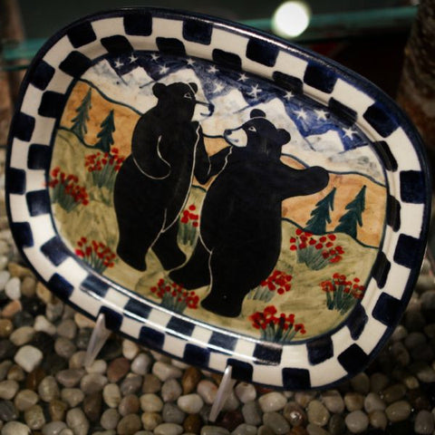Dancing Bears Rectangular Serving Tray
