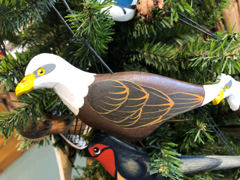 Carved Bird Ornaments