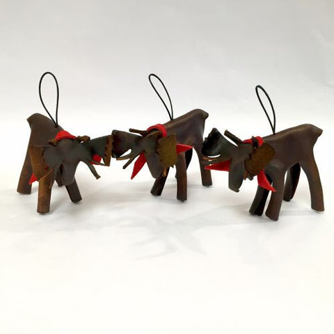 Leather Moose Ornament