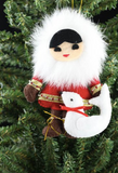 Fur-Trimmed Alaskan Ornaments