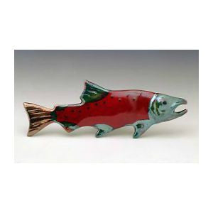 Raku-fired Ceramic Sockeye Salmon