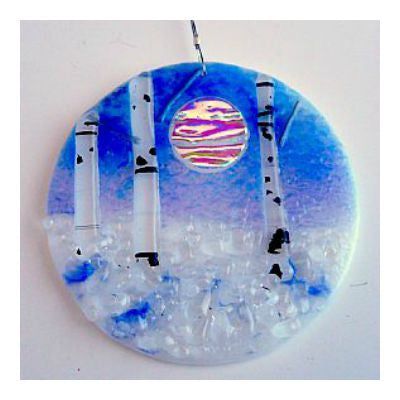 Glass Winter Aspen Ornament