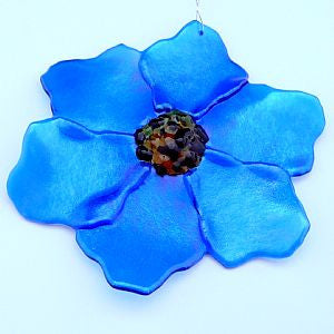 Fused Glass Poppy