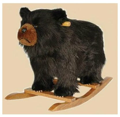 Plush Black Bear Rocker