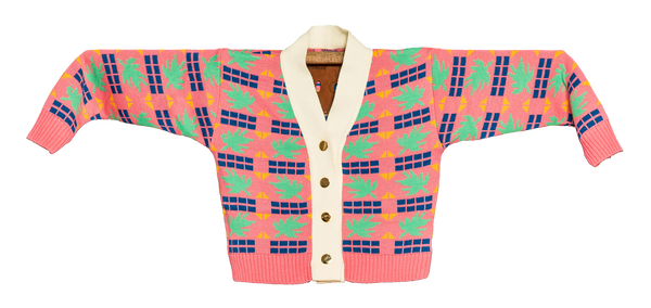"KNITTED MINI CARDIGAN  ""TRICOMA ROSA"""