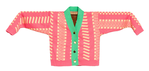 Knitted Mini Cardigan   -  Fog Rosa 1