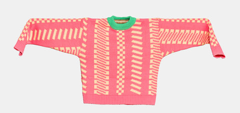 Knitted Mini Sweater   -  Fog Rosa 1
