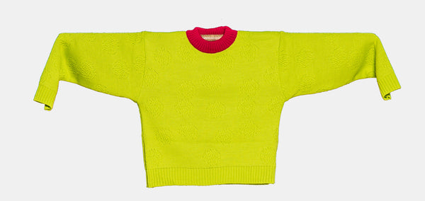 Knitted Mini Sweater   -  Orquidea Verde