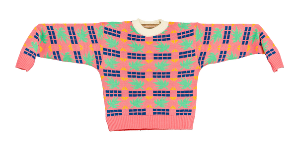 Knitted Mini Sweater   -  Tricoma Rosa