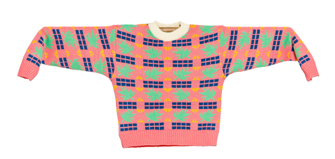 "KNITTED MINI SWEATER ""TRICOMA ROSA"""