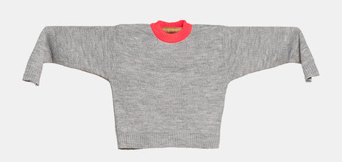 Knitted Mini Sweater   -  Orquidea Cinza