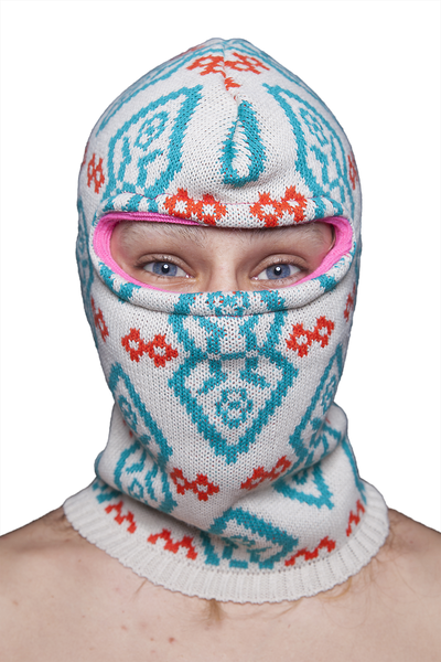 "KNITTED BALACLAVA ""ARTICO CREME"""