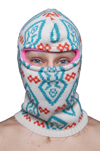Knitted Balaclava  -  Artico Creme