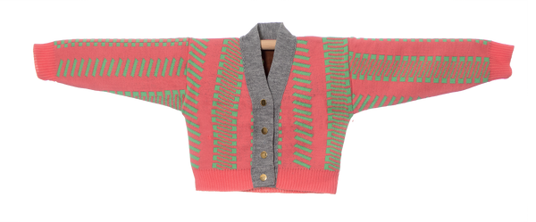 Knitted Mini Cardigan   -  Fog Rosa