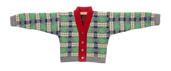Knitted Mini Cardigan   -  Tricoma Cinza