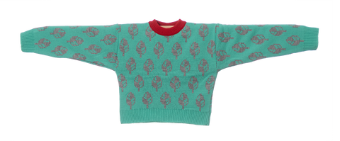 Knitted Mini Sweater   -  Montanha Agua