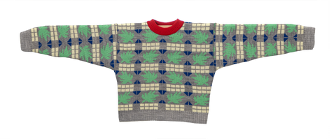 Knitted Mini Sweater   -  Tricoma Cinza