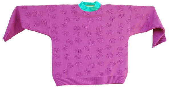 "KNITTED SWEATER  ""ORQUIDEA ROXA"""