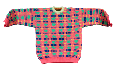 Knitted Sweater  -  Tricoma Rosa