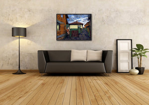2 Paths, Sarajevo - Original Limited Edition Landscape Painting
