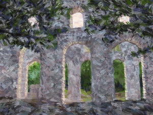 Arched Ruins of Butrint - Original Limited Edition Landscape Painting