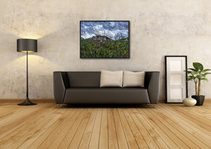 Cemetery, Sarajevo - Original Limited Edition Landscape Painting