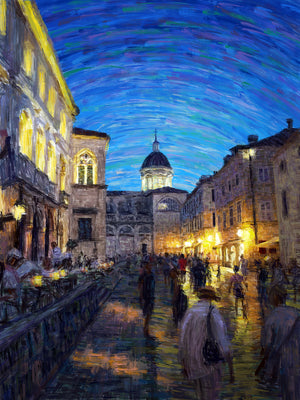Evening in Dubrovnik - Original Limited Edition Landscape Painting