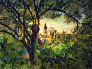 Evening in the Park - Zadar, Croatia - Original Limited Edition Landscape Painting