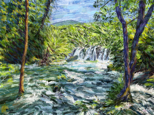 Kravica Falls, Bosnia - Original Limited Edition Landscape Painting