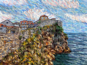 Walled City by the Sea, Dubrovnik, Croatia - Original Limited Edition Landscape Painting