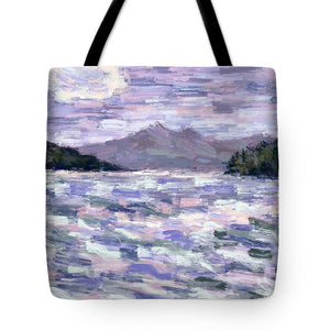 Tote Bags - Ksamil in Lavender and Green
