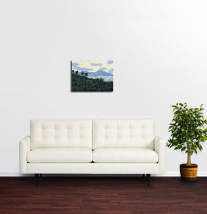 Mountains Outside of Saranda, Albania - Original Limited Edition Landscape Painting