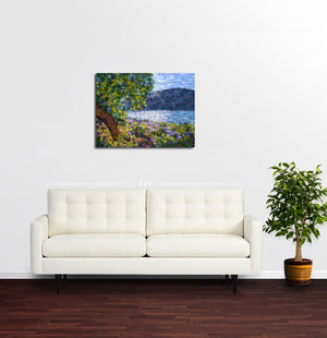 Peaceful Day at Lake Butrint - Original Limited Edition Landscape Painting