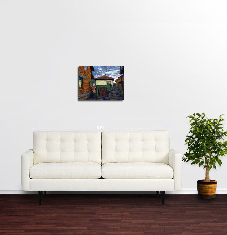 2 Paths - Sarajevo - Original Limited Edition Landscape Painting